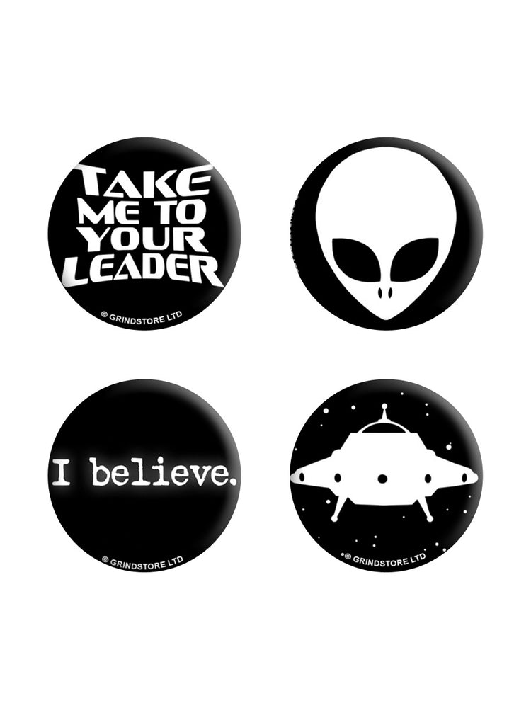 I Believe In Aliens Badge Pack