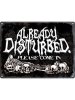 Already Disturbed Mini Tin Sign