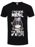 Psycho Penguin I Tried Being Normal Men's Black T-Shirt