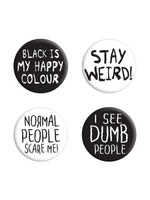 Stay Weird Badge Pack