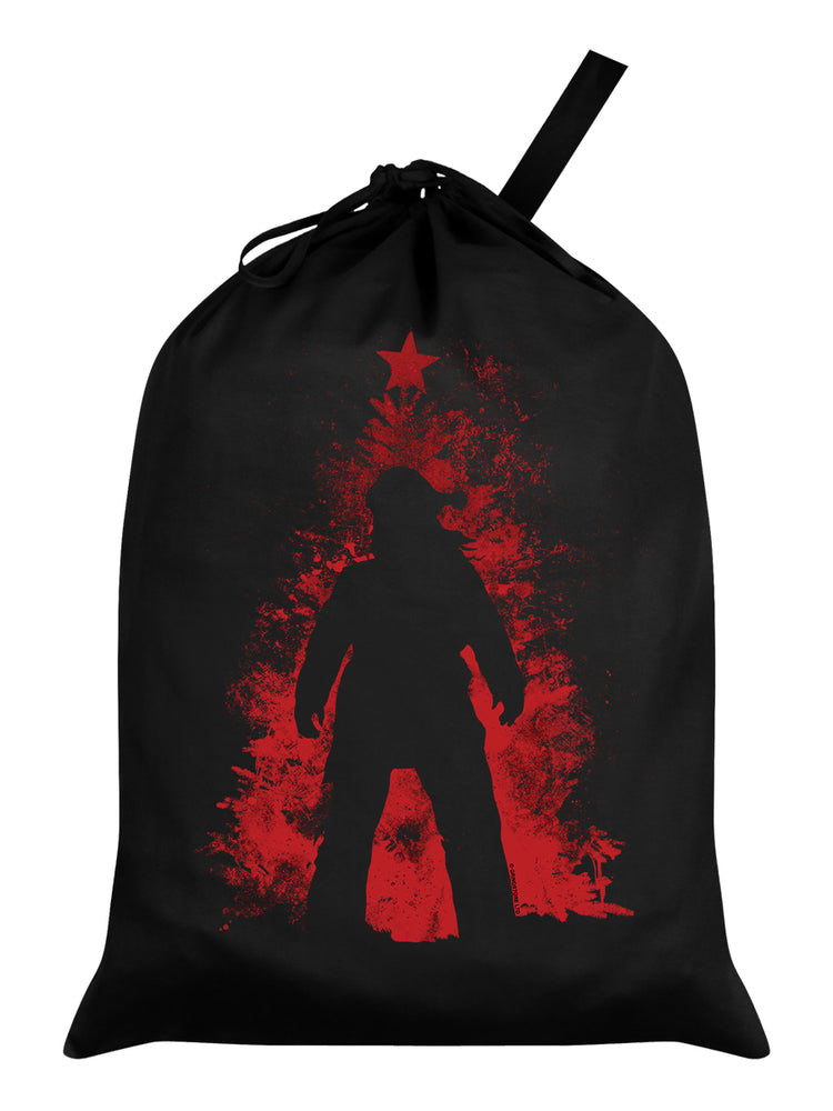 He's Back! Santa Sack - Black