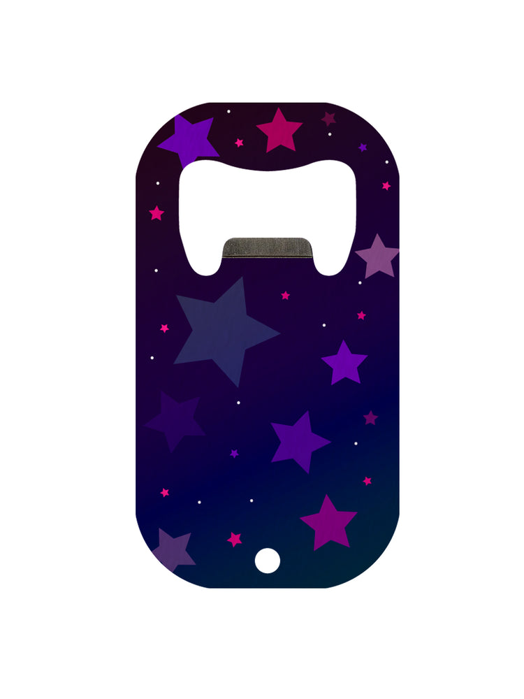 Purple Stars Mini Bar Blade Bottle Opener