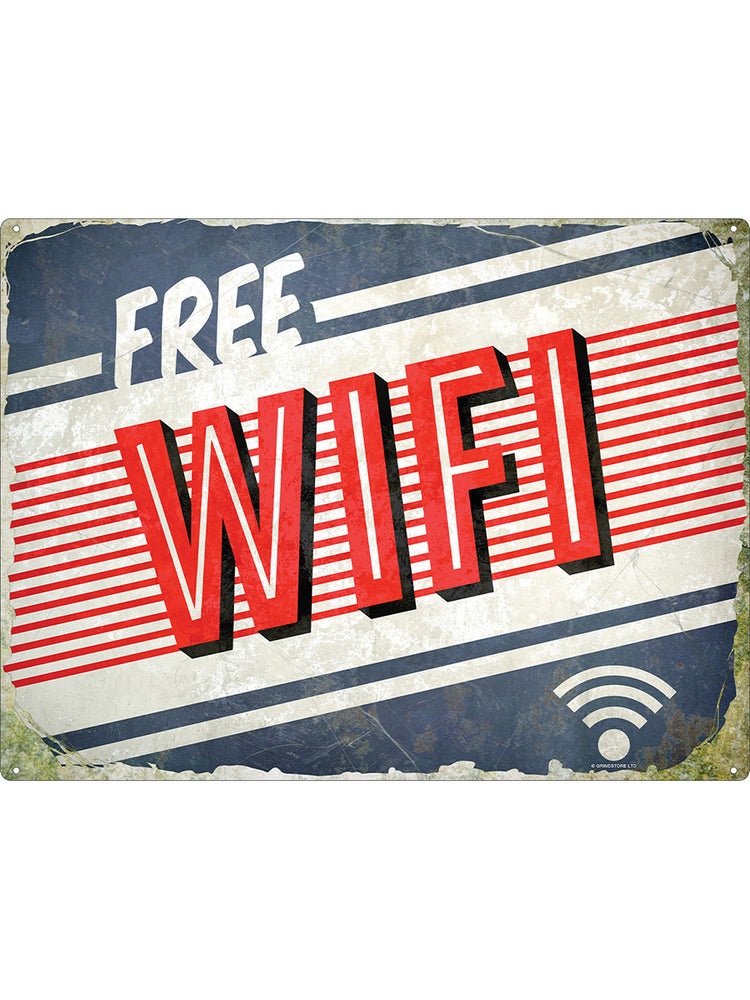 Free WiFi Tin Sign