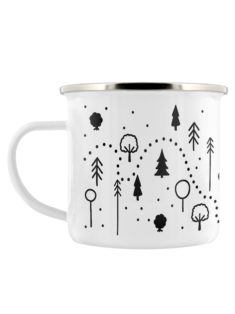Follow The Dotted Line Enamel Mug