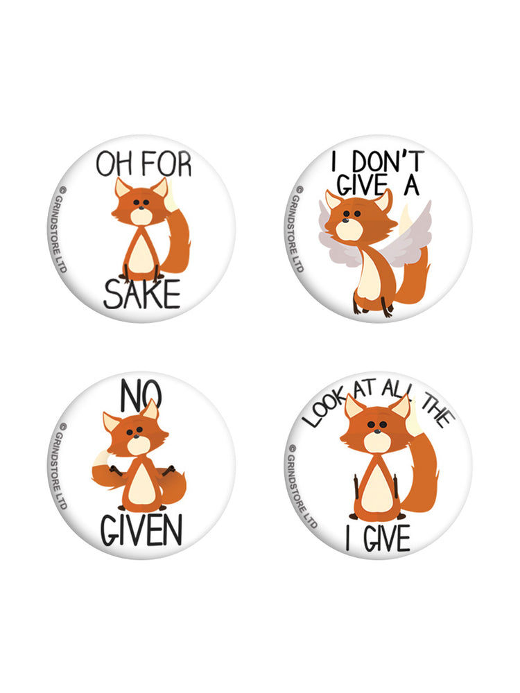Oh For Fox Sake Badge Pack
