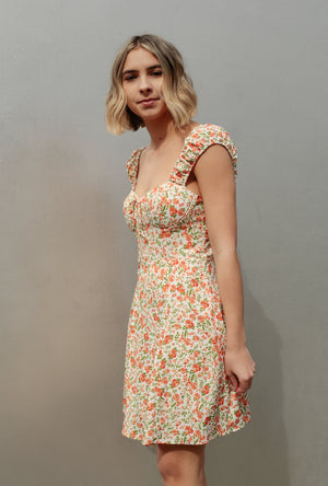 Floral Sweetheart Dress