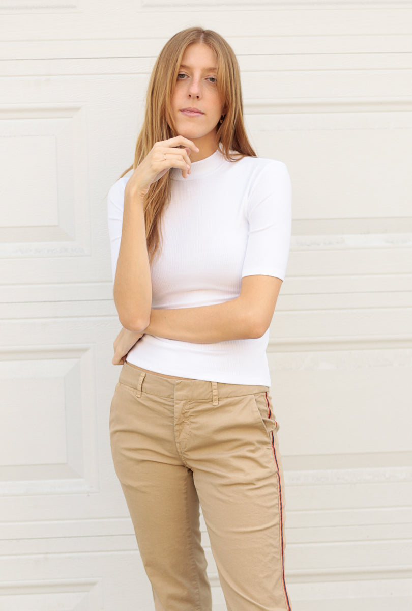 Daniella Mock Neck Rib Top