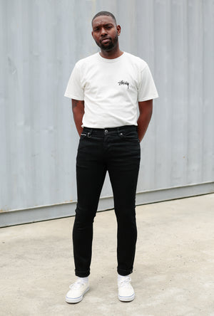 Iggy Skinny Jean in Black Selvedge