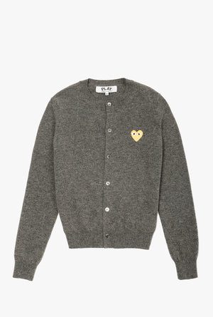 Women's Gold Heart Cardigan