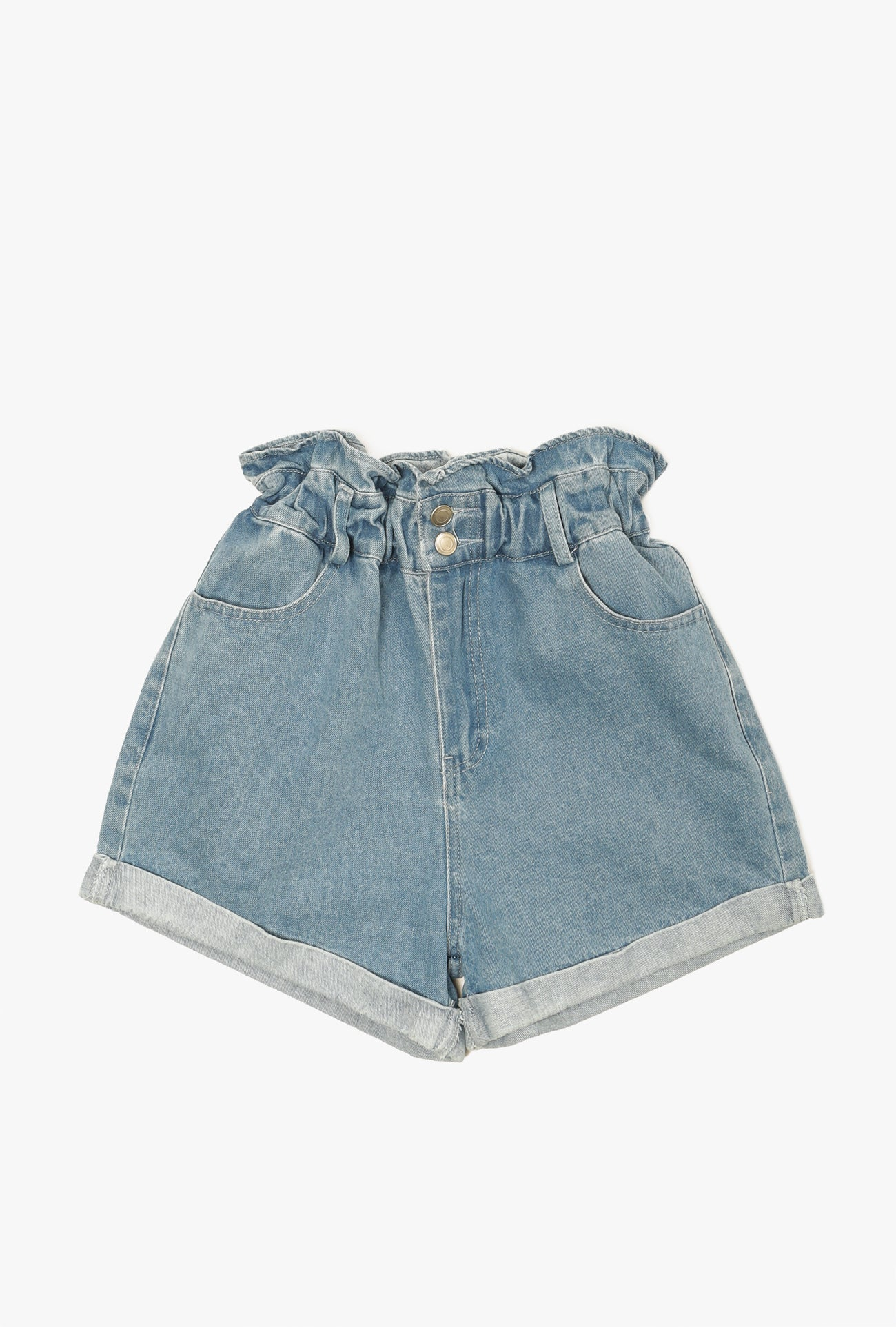 Frill Top Roll Hem Shorts