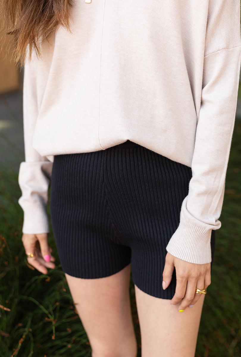 Ribbed Biker Shorts