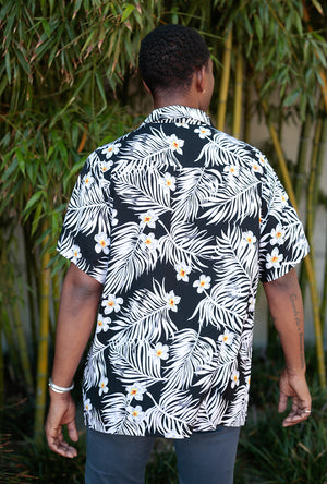 SS Point Collar Floral Hawaiian Button Down