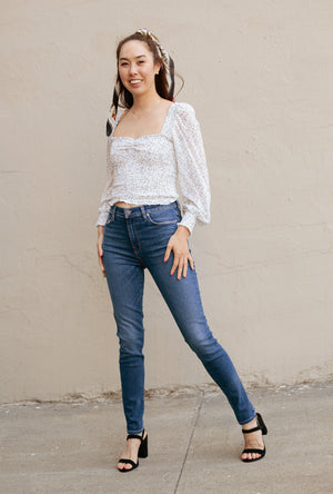 Barbara High Waist Skinny Ankle Jean in Excursion