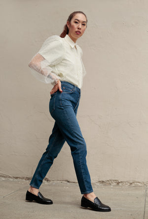 Nico High Rise Slim Jean in Fixation