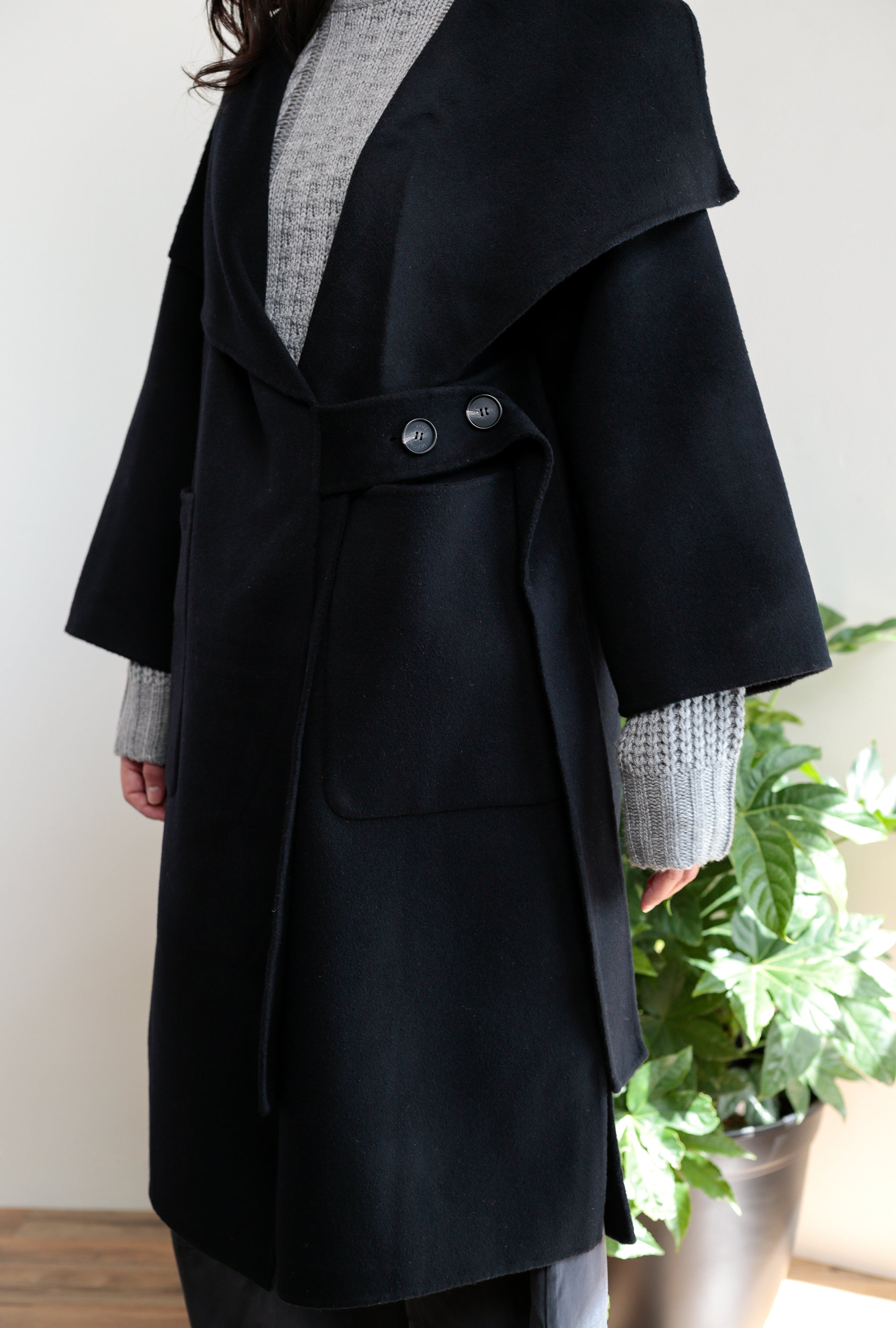 Cashmere High Neck Coat