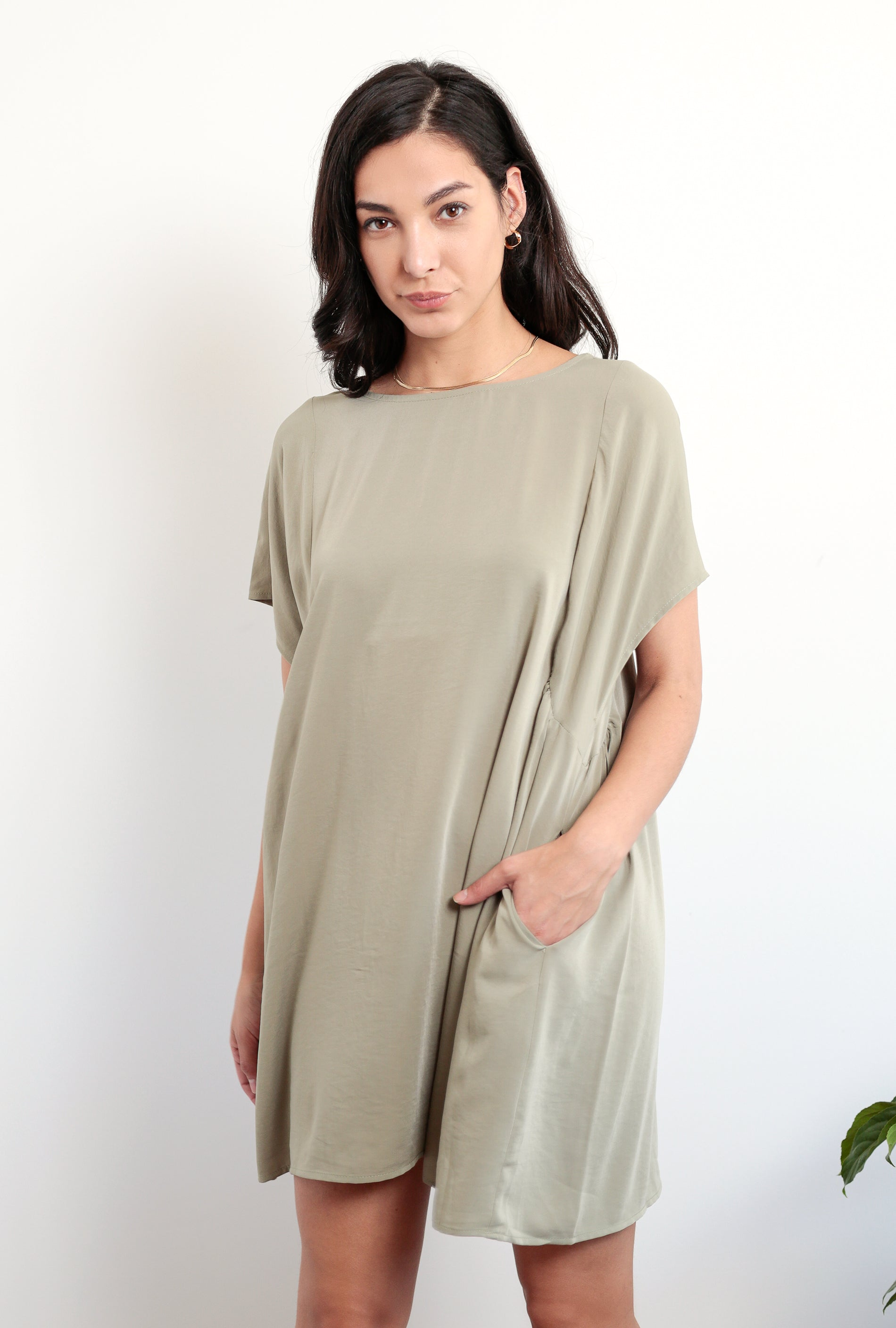 Drape Tent Mini Dress