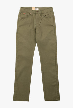 Super Guy Selvedge Jean in Army Green