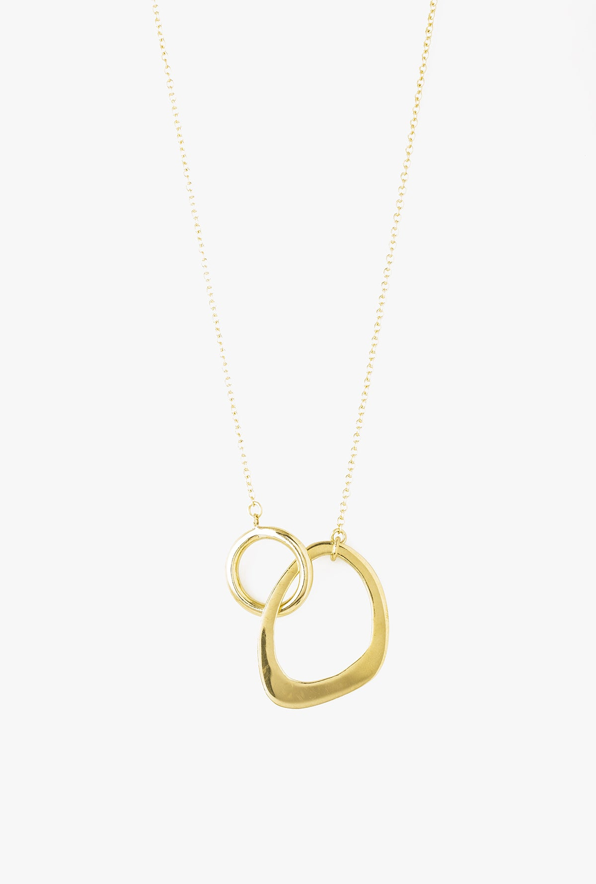 Open Sabi Link Necklace - BRASS