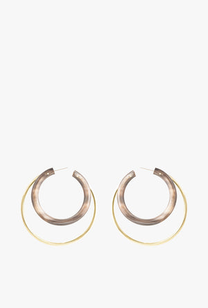 Gio Hoop Earrings P - Black