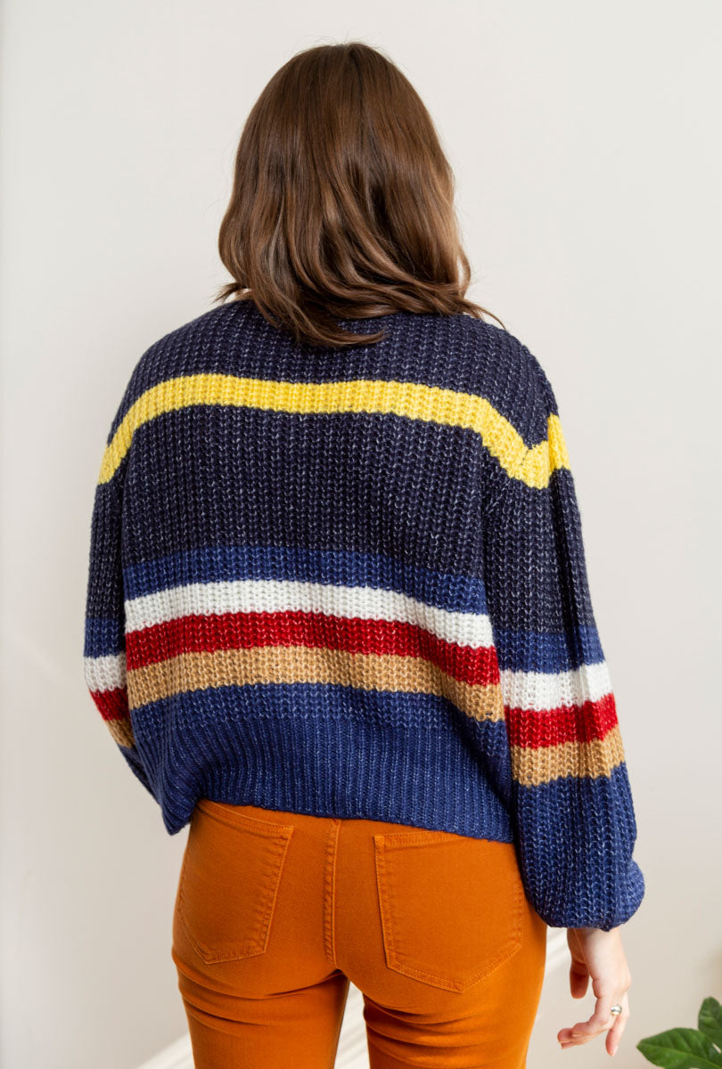 Lauren Stripe Crewneck Sweater