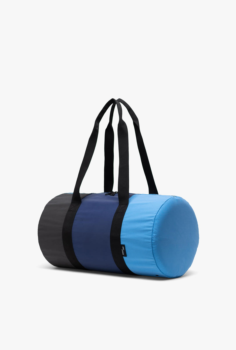 Packable Duffle - Blue Black Reflective