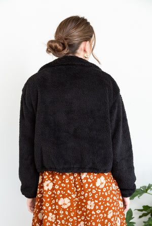Casey Teddy Drawstring Jacket