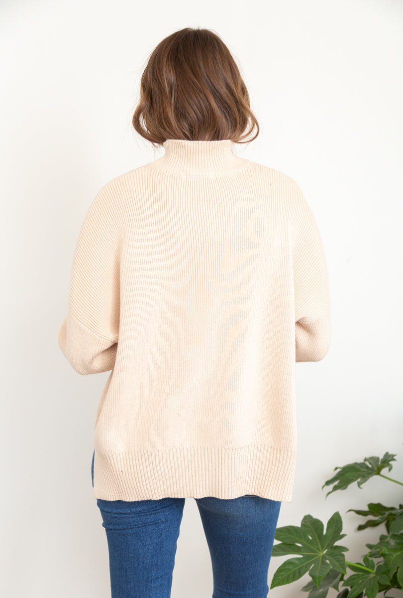 Rhea Mock Neck Sweater
