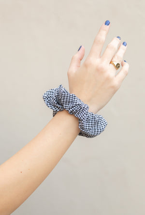 Gingham Print Scrunchie