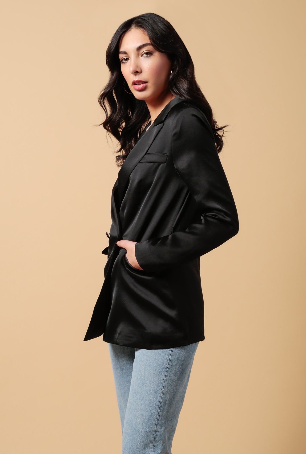 Satin Belted Jacket
