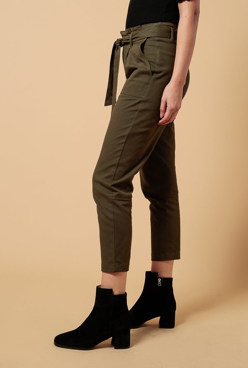 Cindy Tie Waist Straight Pants