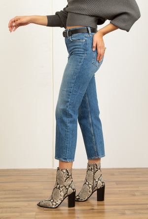 Remi High Rise Straight Crop Jean in Lullaby