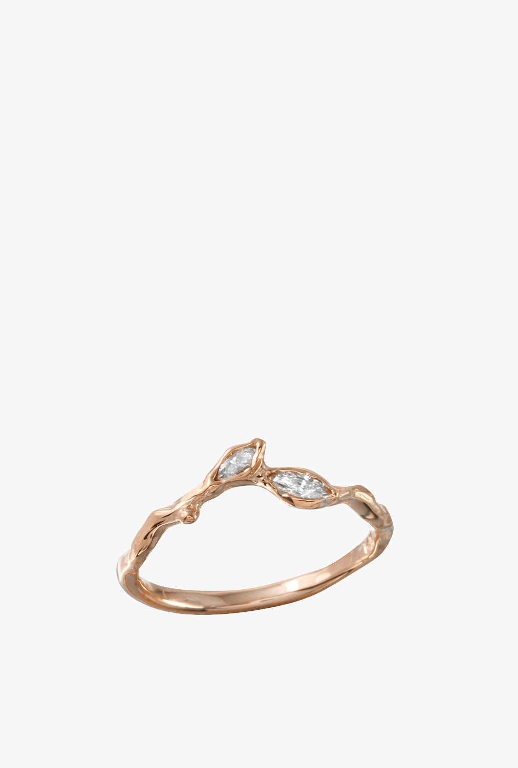 Twig Leaf w/ Diamond Ring