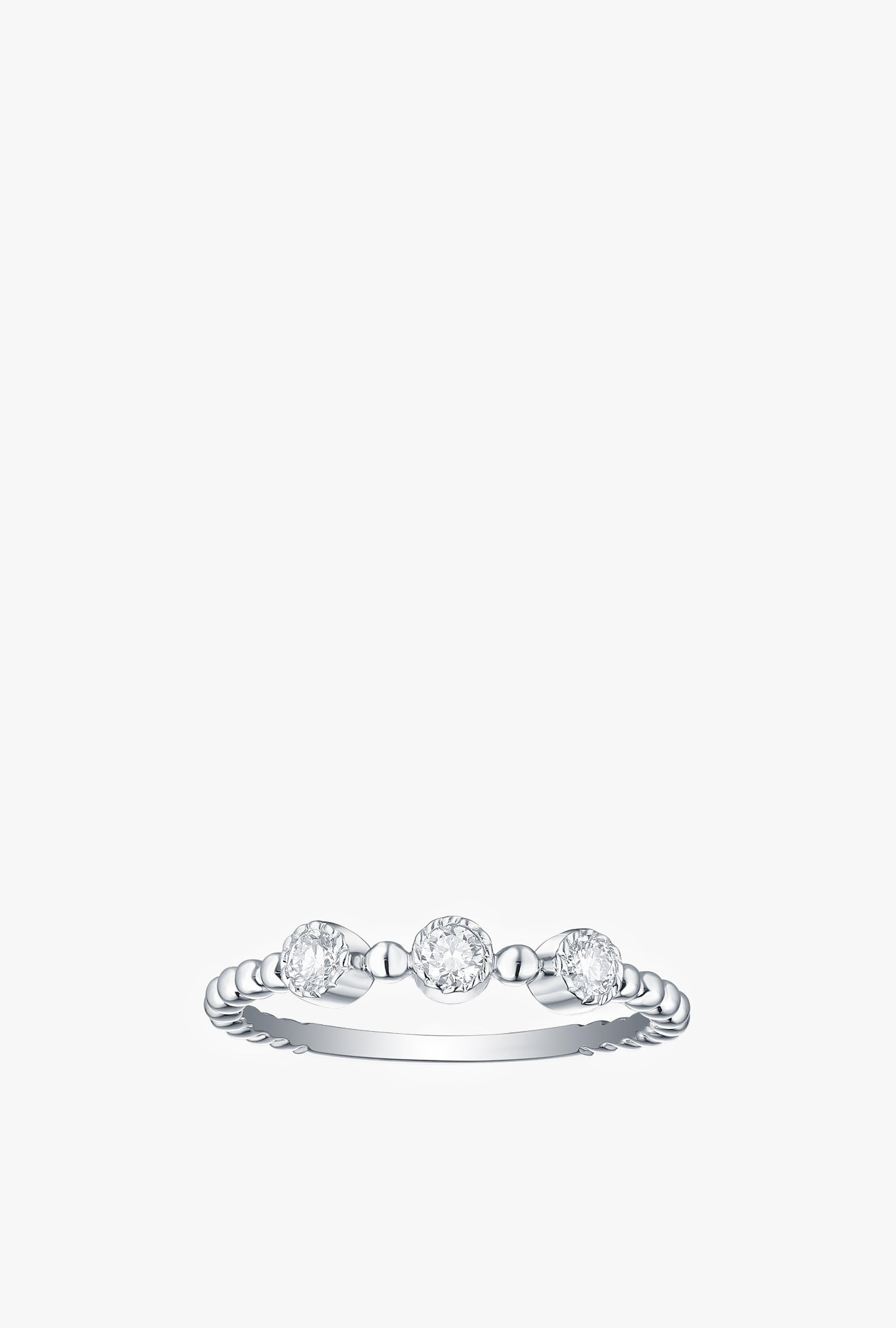 3 Large Bubbly Lab Grown Diamonds Ring