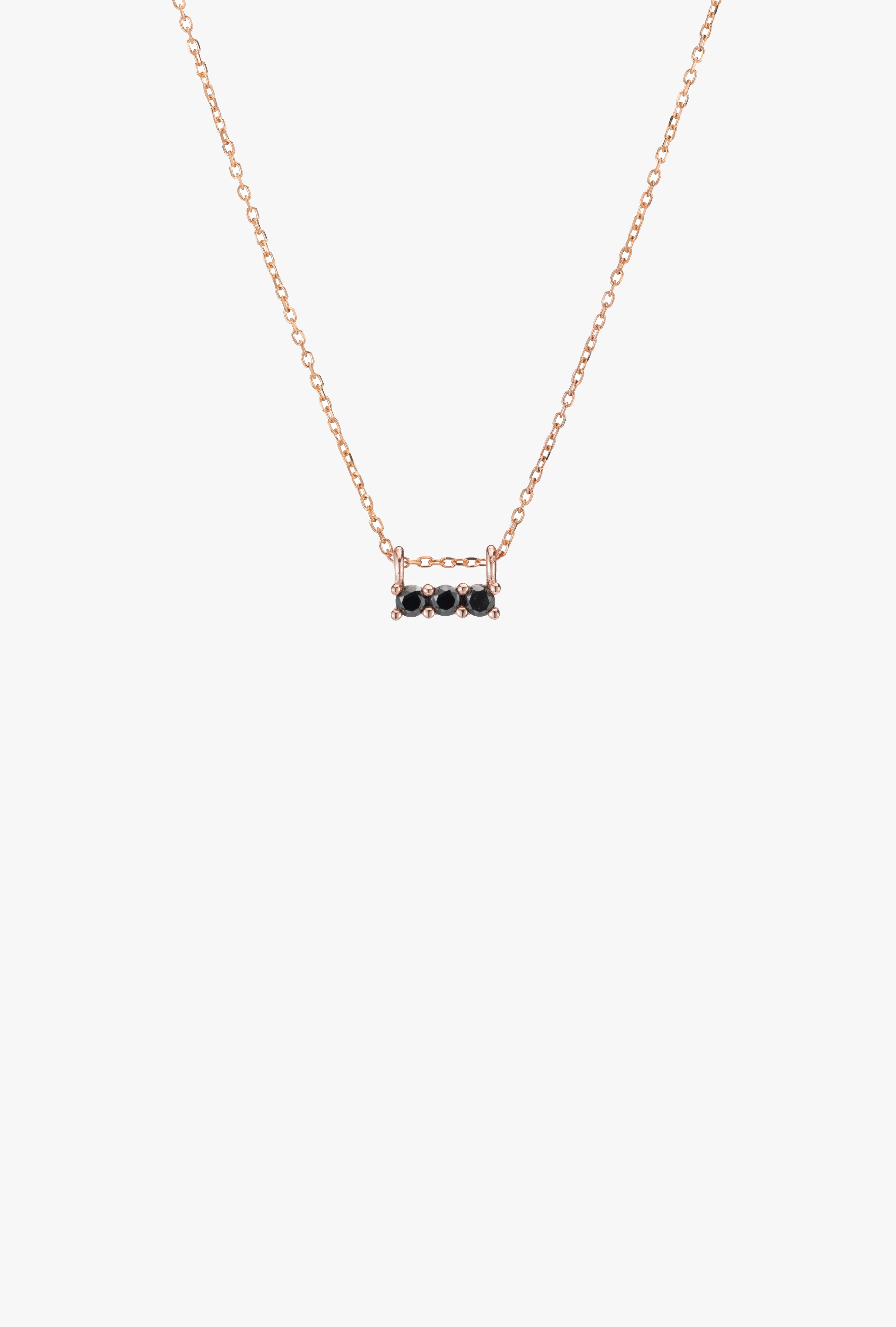 3S Black Diamond Necklace