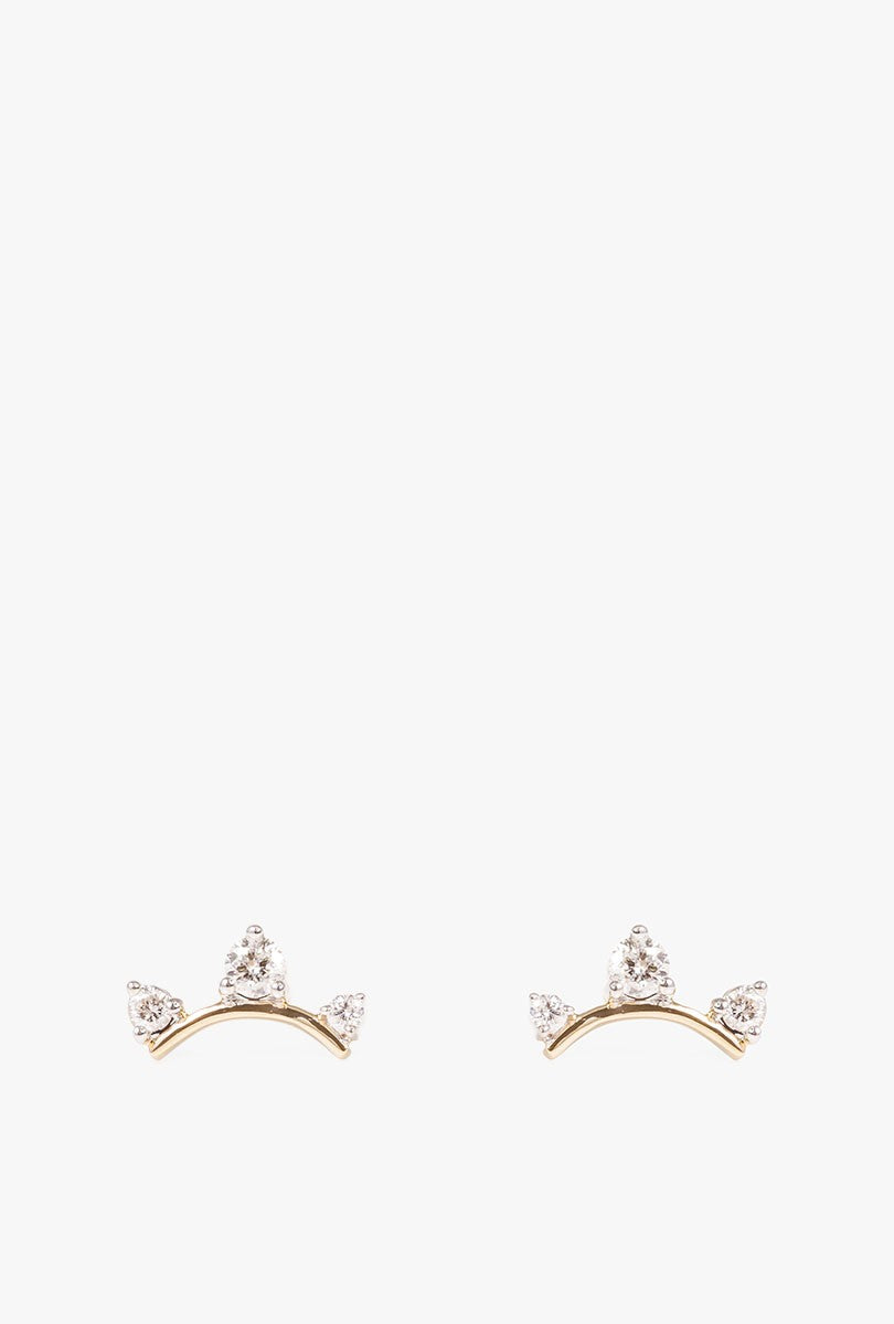 3 Diamond Amigos Earrings