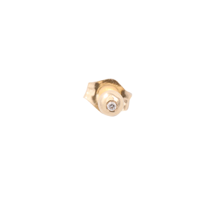 14k Diamond Ball Stud