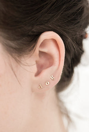 Alphabet Stud Earring - Single