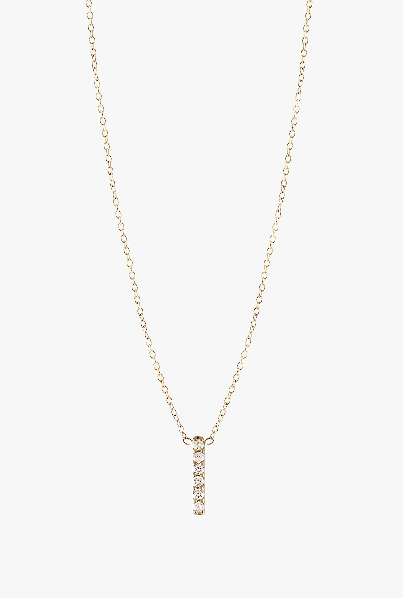 6 Diamond Vertical Bar Necklace