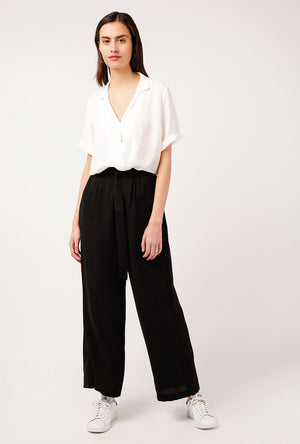Mulberry Collared Wrap Top