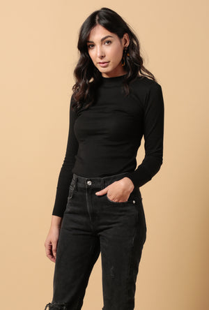 Lexie Mock Neck LS Top