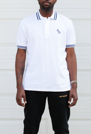 Monogram Stripe Collar Polo