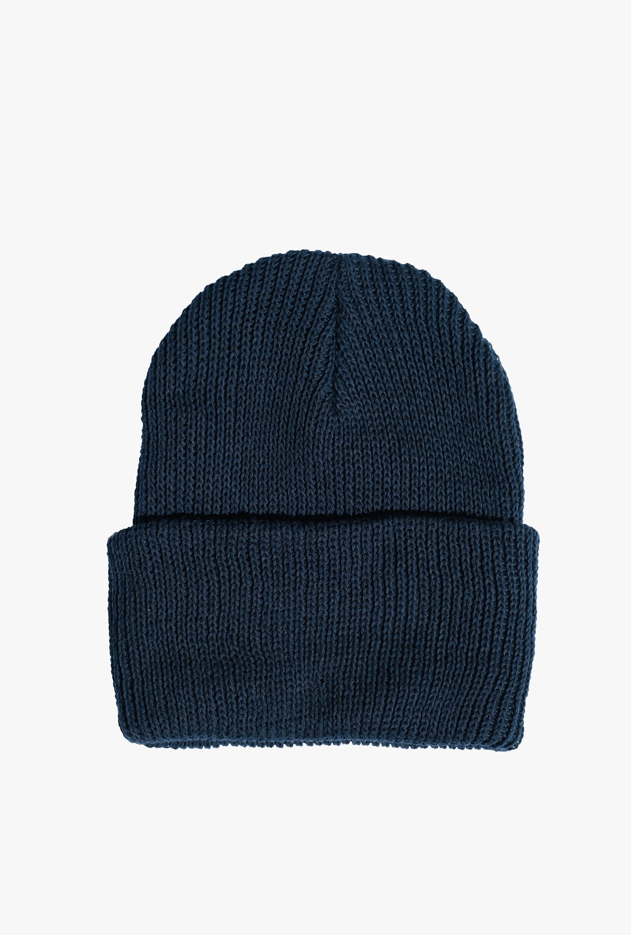 Cotton Rib Beanie - Navy