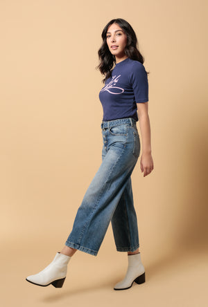 The Charley Crop Wide Leg Jean