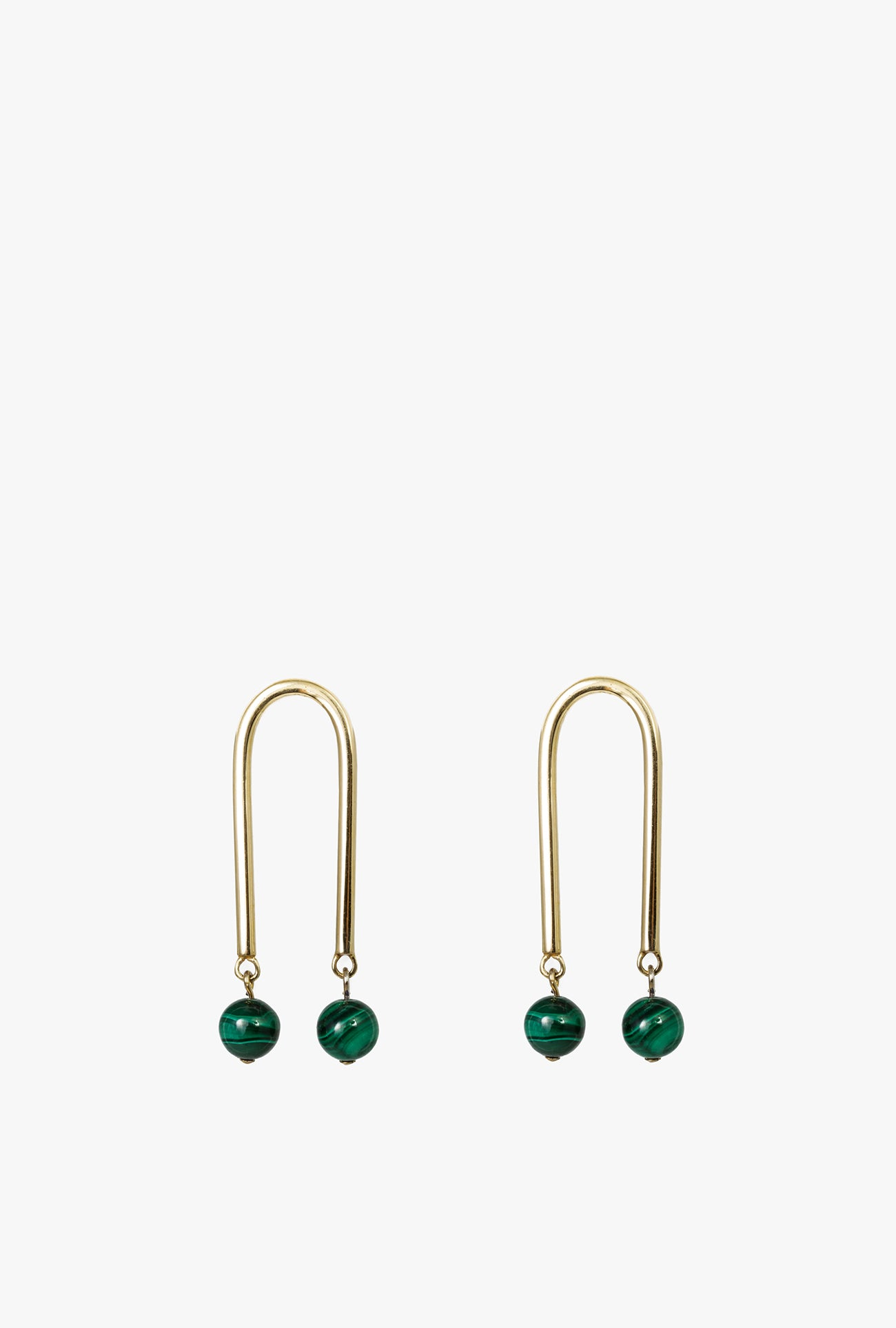 Malachite Mini Arch Hoop Earrings P