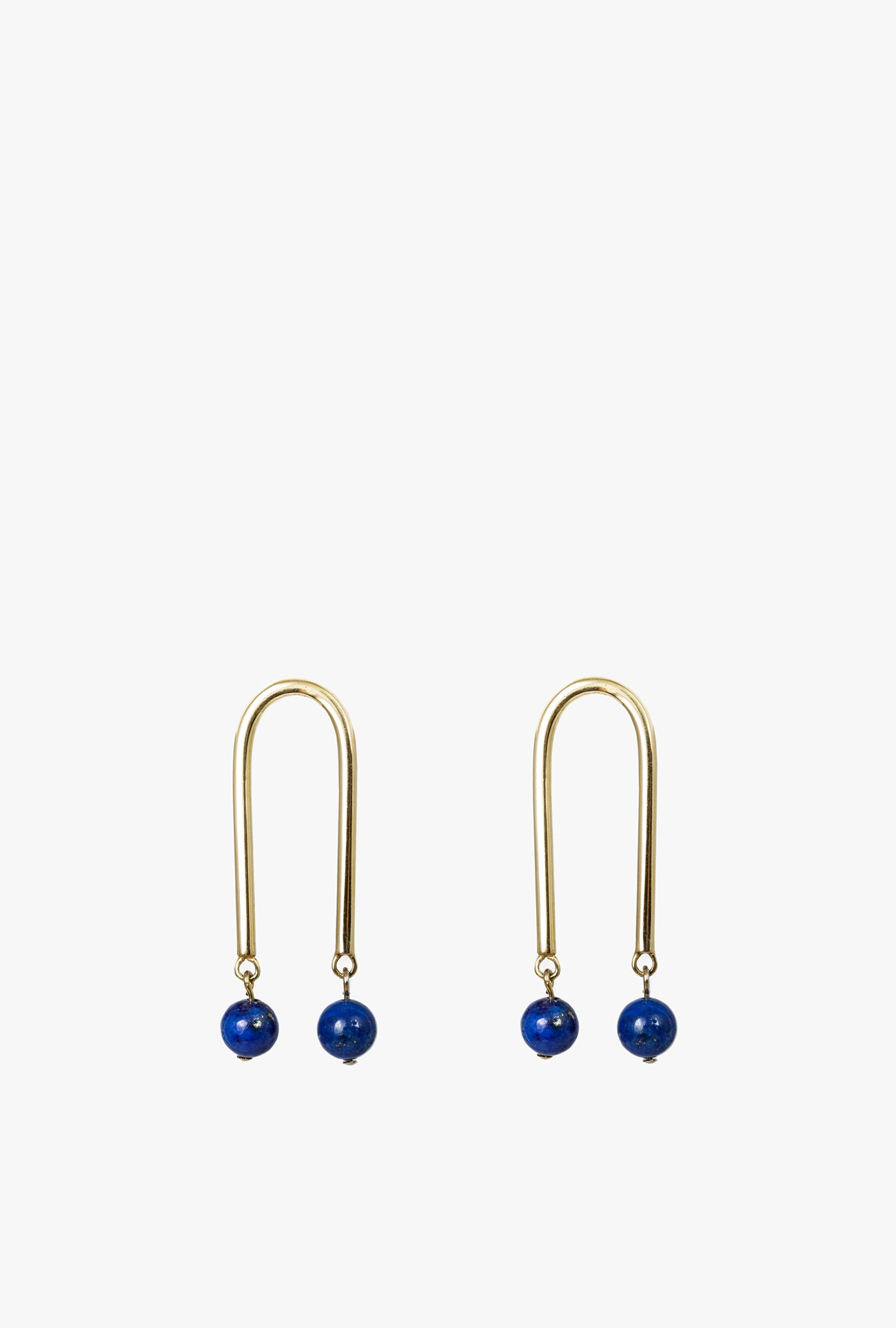 Mini Arch w/Stone Earrings P - Lapis