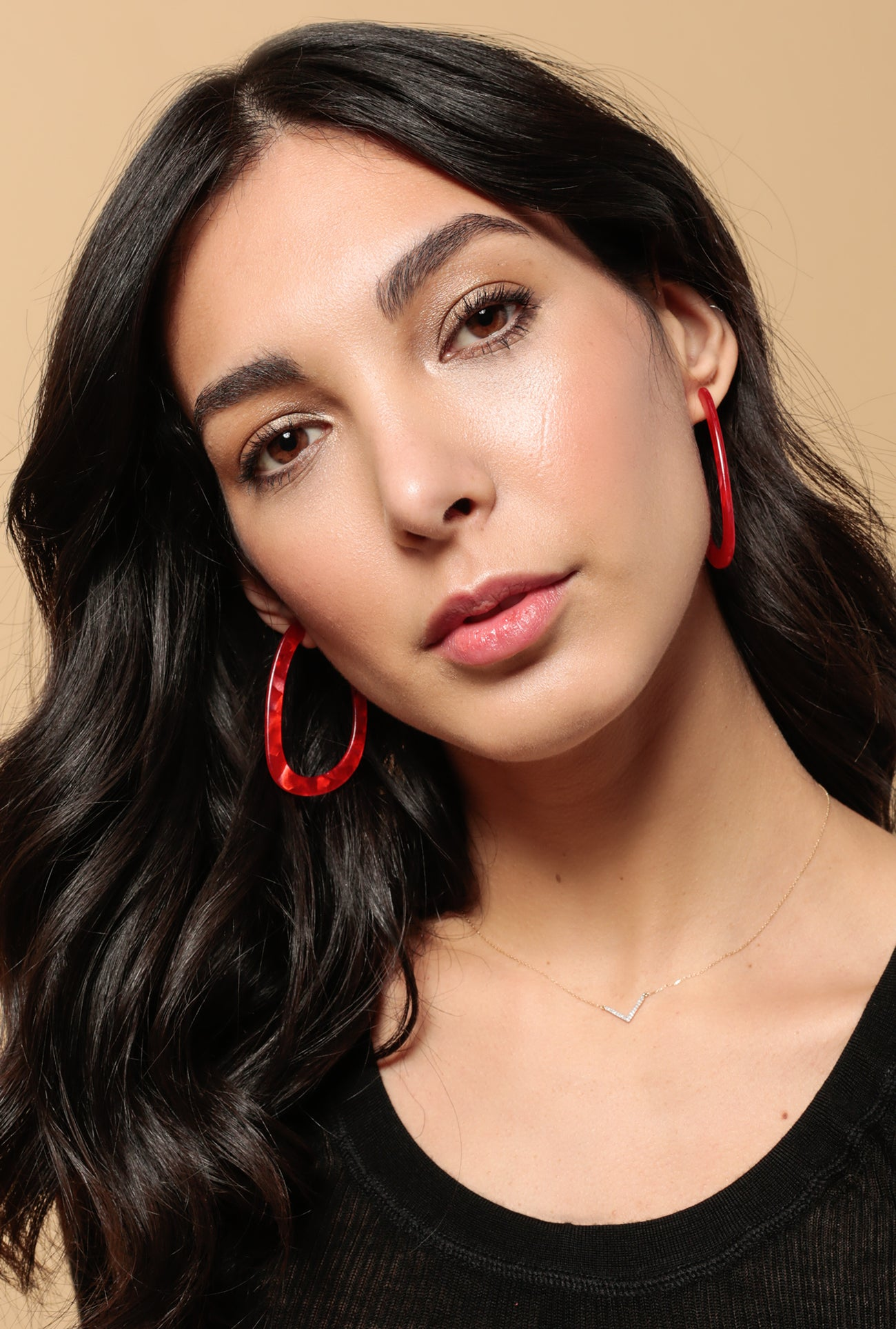 Alaminos Earrings P - Red