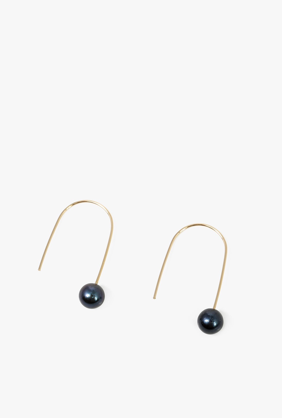 Black Pearl Drop Earrings P