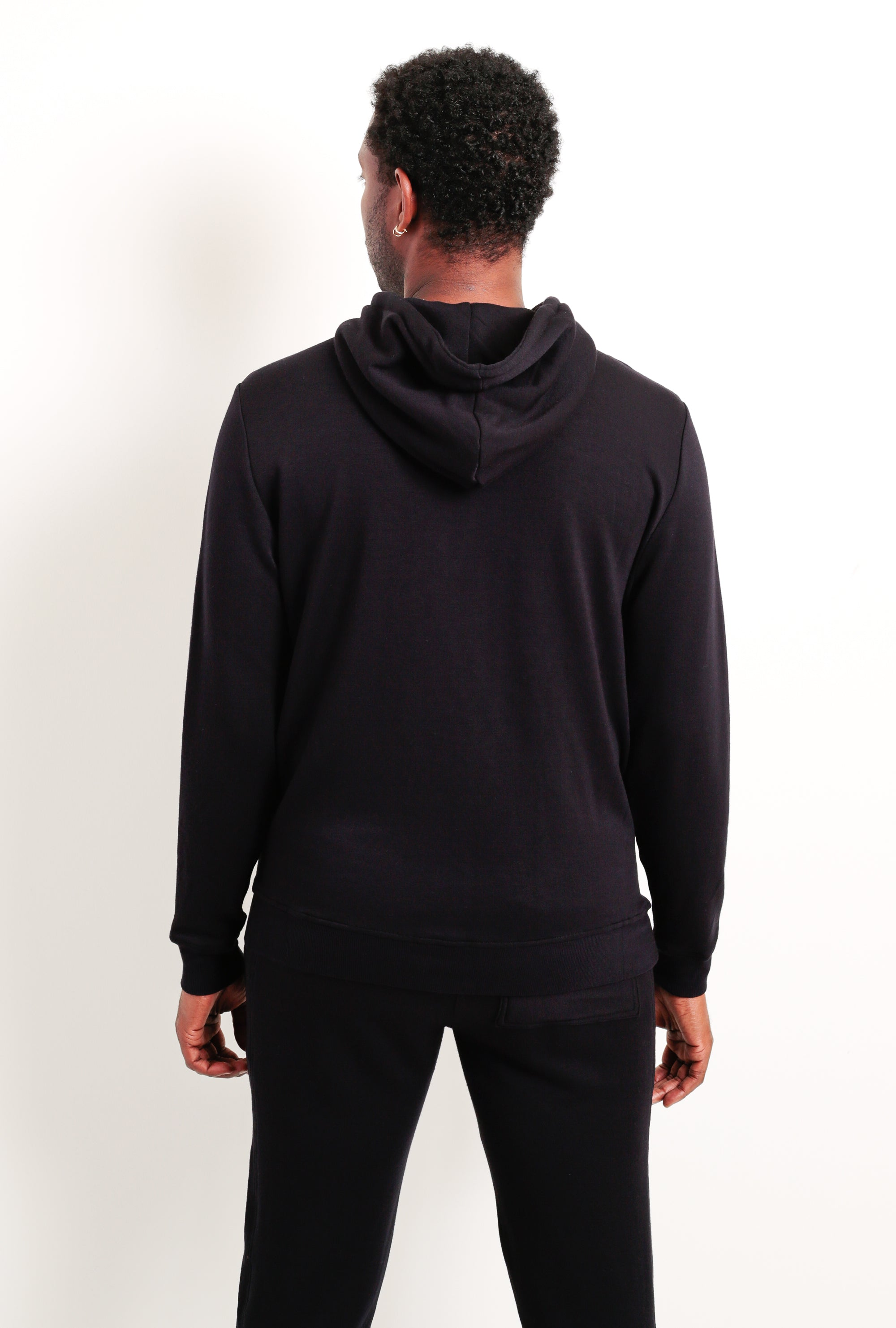 Panel Zip Up Hoodie