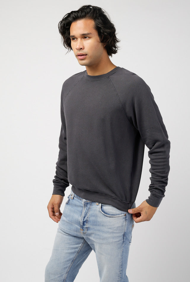 Crew Neck Raglan French Terry Sweater