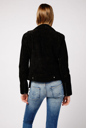 Genuine Suede Moto Jacket